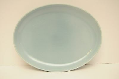 Vintage Blue/Green Serving Platter Iroquois Casual China by Russel Wright