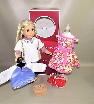 American Girl Classic Julie  Doll With Meet Outfit And More - Great