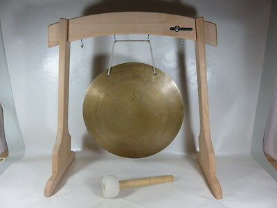 TG7# Tibet Gong ca. 36,5cm ca. 1.450gr. Full set with Stand and Sticks