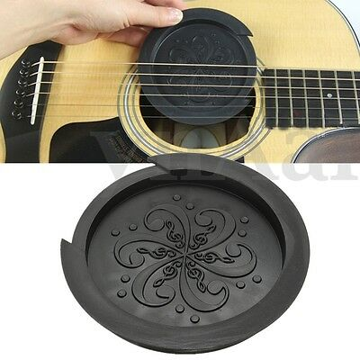 Soft Rubber Sound Hole Cover Block Halt Plug For Acoustic Guitar 40/41'' Black