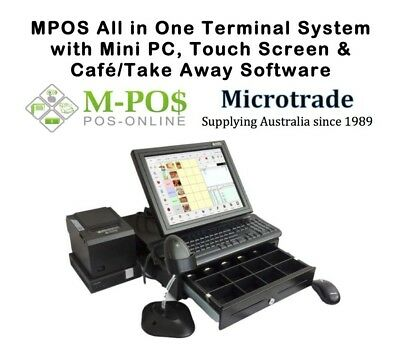 POS System, Mini Point of Sale PC. Cafe/Take Away Software-All Hardware Supplied
