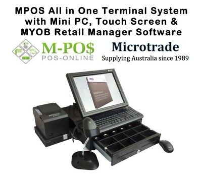 POS System, Mini Point of Sale PC. MYOB Retail Manager and all hardware. NEW!