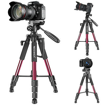 Neewer Portable 56 inches Aluminum Camera Tripod with 3-Way Swivel Pan Head