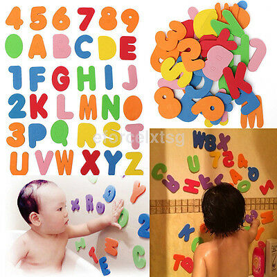 36pc/lot Baby Bath Toys Letters Numbers Stick On The Wall Safety Educational Toy