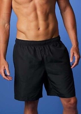 NWT MENS & KIDS Lightweight PONGEE Sports SHORTS in Navy or Black wth Pockets