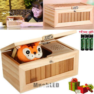 Useless Box Leave Me Alone Box Wooden Machine Don't Touch Tiger Toy Gift