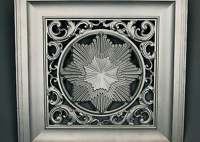 Aesthetic Movement Victorian Architectural Iron Fireplace Cover Insert Sunburst