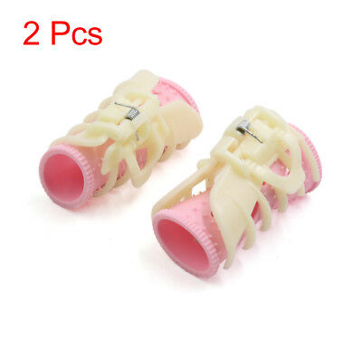 2 Pcs Pink Beige DIY Home Hair Curlers Clips Rollers Hairdressing Styling Tools