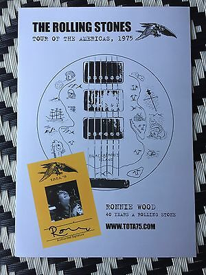 The Rolling Stones - Tota 1975 - Genesis Publications Brochure - Great Condition