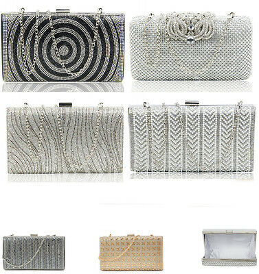 LeahWard Women's Diamante Sparkly Crystal Evening Bag For Wedding Prom Bridal Ni