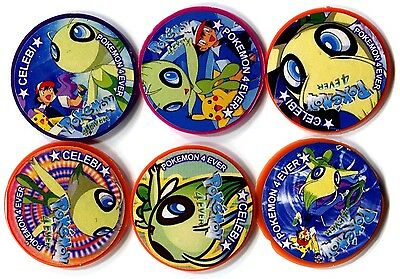 POGS - V-POK-TAPS 6 001 Lot de 6 Pogs TAPS POKEMON (No Double) CELEBI