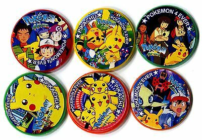 POGS - V-POK-TAPS 6 002 Lot de 6 Pogs TAPS POKEMON (No Double) PIKACHU