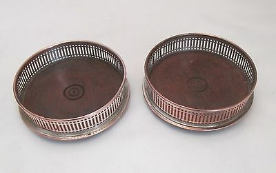 A Good Pair of Old Sheffield Plate Coasters - c1820 - Champagne / Wine