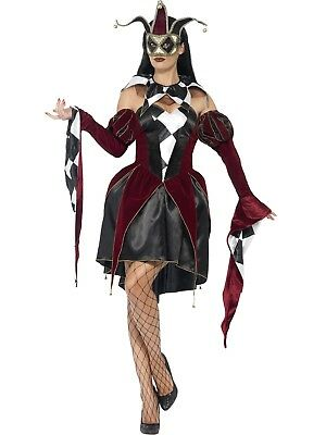 Gothic Venetian Harlequin Cartoon Fairytale Comic Con Costume Halloween