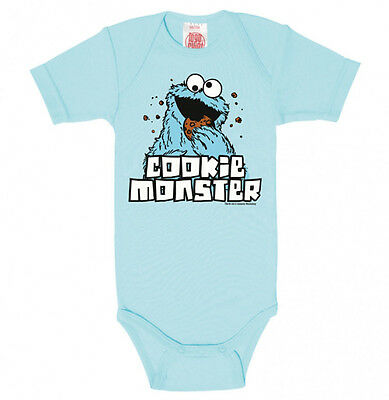 LOGOSHIRT Body Krümelmonster cookie monster hellblau 50 56 62 68 74 80 86 92