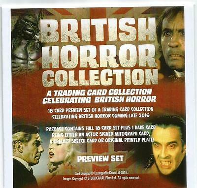 British Horror Collection Sealed Limited Edition Preview Card Set - Unstoppable