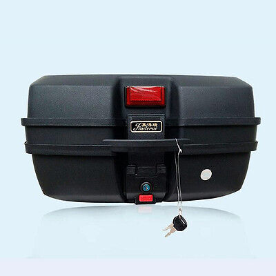 L Motorcycle Trunk Motorbike Detachable Tail Box Safe Riding Storage Top Case