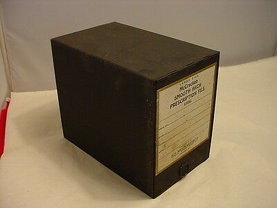 Antique Art Deco McCracken Pharmacy Apothecary Prescription File Box