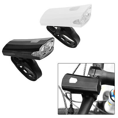 Waterproof Bike Bicycle Cycle USB Rechargeable Front Lamp Headlight Blcak/White