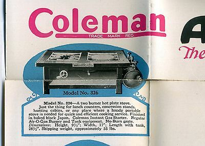 1920 Coleman Lamp & Stove Co, Wichita Kansas, Gasoline Powered Kitchen stoves