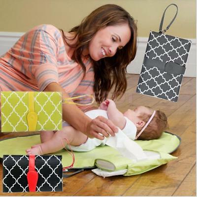 Baby Changing Pad Diaper Clutch Portable Station Kit with Travel Cover Mat