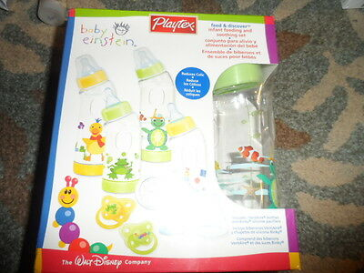 Rare Playtex Baby Einstein Feed&discover Infant Feeding & Soothing Set