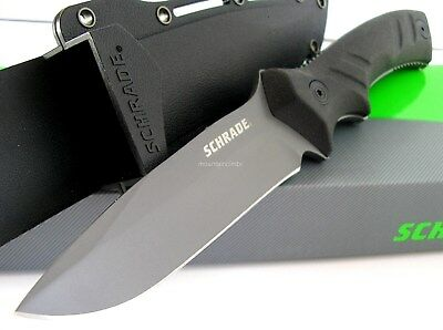 Schrade SCHF31 Tactical Outdoor Drop Point Fixed Blade Full Tang Knife CLAM Pack