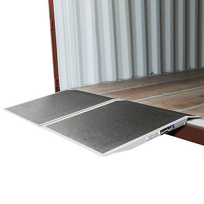 "Aluminum Forklift Shipping Container Ramp 36"" x 72"" 10,000lb Capacity"