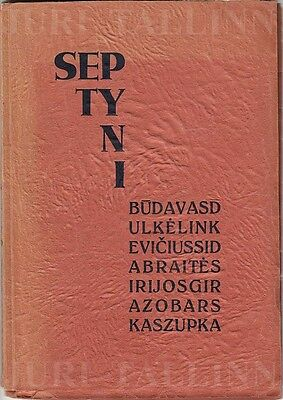 "AVANT-GARDE Cover POETRY Collection ""SEPTYNI"" K. ZUPKA Autograph LITHUANIA 1930"