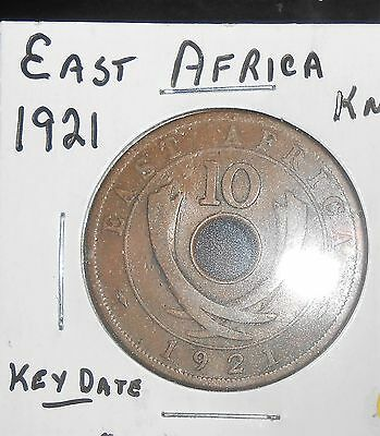 Nice East Africa 1921 10 Cents Key Date Coin