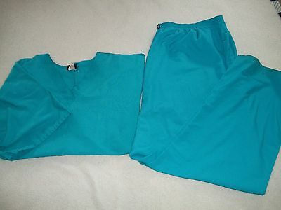 Cherokee Workwear Scrubs Set Pants & Top Green Size 5X B14