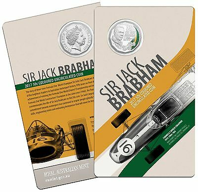 2017 Sir Jack Brabham Formula 1 World Champion 50c Uncirculated Coin - RAM