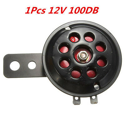 Universal Black & Red Motorcycle Waterproof Electric Horn DC 12V 100db Horn 1pcs