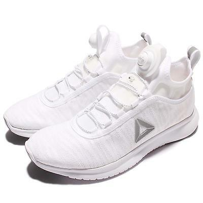 REEBOK PUMP PLUS Flame Womens Trainers White Silver New