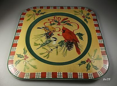 """LENOX WINTER GREETINGS everyday SQUARE SERVICE PLATE - CHARGER 13 1/2"""" - NEW!"""