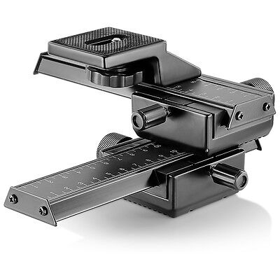 Neewer 4-Way Macro Focusing Focus Rail Slider/Close-Up Shooting for Canon Nikon