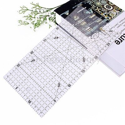 30x15cm Patchwork Tools Diy Quilting Ruler Acrylic Sewing Clear Quilt HOT