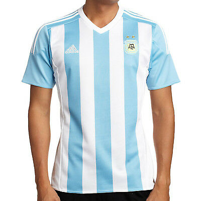 adidas Perfromance Mens Argentina climacool Home Football Short Sleeve Jersey
