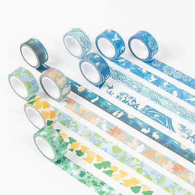 Waves DIY Paper Sticky Adhesive Sticker Decorative Scrapbooking Washi Tapes