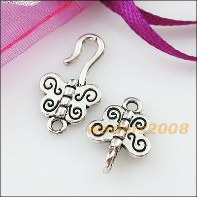 8 New Connectors Necklace Animal Butterfly Toggle Clasps Tibetan Silver 11x33mm