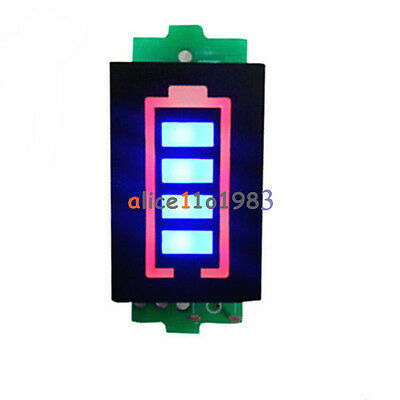1S 3.7V Lithium Battery Capacity Indicator 4.2V Blue Dispaly Power Tester Single