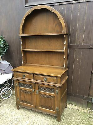 old Charm dutch bow top Mid Oak Welsh dresser