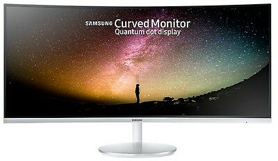 "Samsung 34"" Ultra Wide Premium Curved Led Monitor Wqhd 3440X1440,   C34F791Wqe"