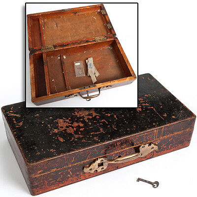 Antique Victorian ARTIST'S Materials BOX Plein Air Painting Case Quirky Unusual