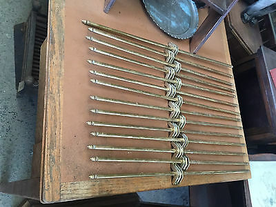 Set of 14 Victorian Brass Stair Rods