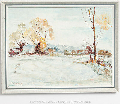Peter KING Snowscene Snow Scene English Original Oil Painting Impressionist Art