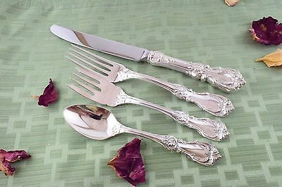 BURGUNDY French Blade Setting, 4 Pieces Reed & Barton Sterling