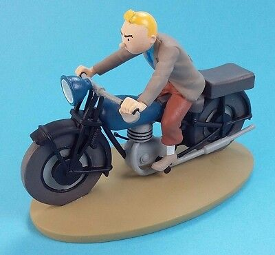 Figurine Tintin and Snowy  Motorcyclist  n°8  hand painted in box