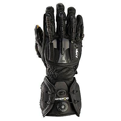 Knox Hand Armour Handroid Leather Motorcycle / MC Gloves Black - 2X-Large (2XL)