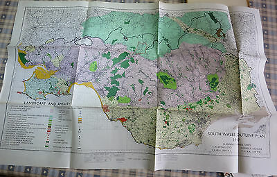 South Wales Outline Plan 1947 (many maps incl. Coal Miners travel to work 1945)